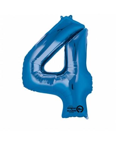 Fól. balón č. - 4 modrý 66x88cm