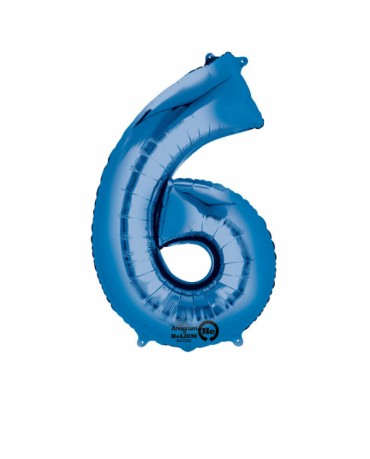 Fól. balón č. - 6 modrý 58x88cm