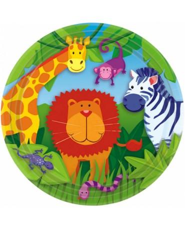 Tanieriky zvieratká v džungli 23cm 8ks