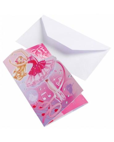 Pozvánky Barbie Pink Shoes 6ks