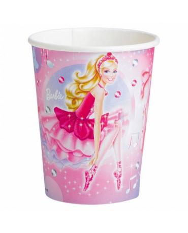 Poháriky Barbie Pink Shoes 266ml 8ks