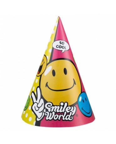 Klobúčiky Smiley World 6ks