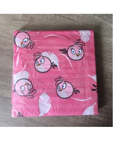 Servítky Angry Birds Pink 33x33cm 20ks