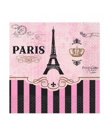 Servítky Paris 25cm 16ks