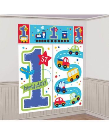 Dekorácia na stenu 1st Birthday boy 5ks
