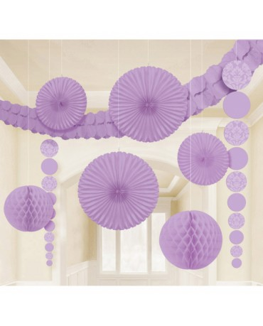 Fialový set dekorácií 9ks
