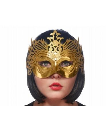 Benátska maska -zlatá s ornamentom