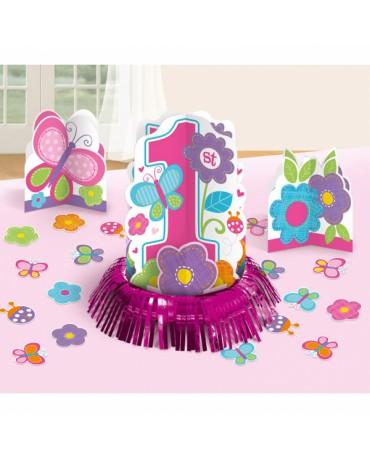 Dekorácie na stôl -1st Birthday girl  23ks