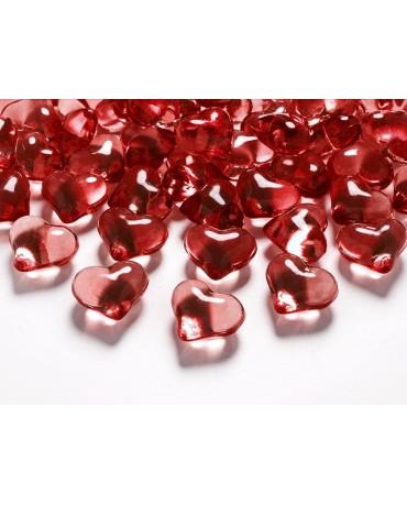 Dekorácia srdce -červené 2,1cm 30ks