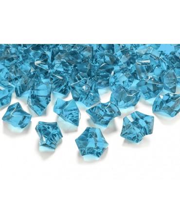 Dekorácia -tyrkysový ľad 2,5x2,1cm 50ks