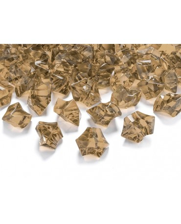 Dekorácia - zlatý ľad 2,5x2,1cm 50ks
