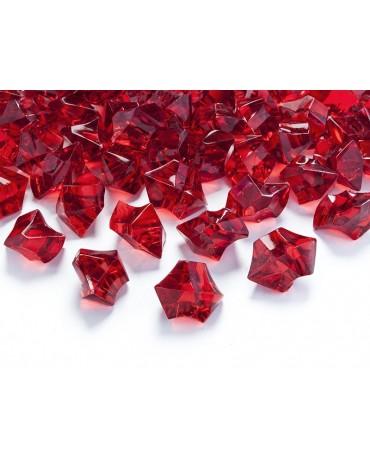 Dekorácia -červený ľad 2,5x2,1cm 50ks