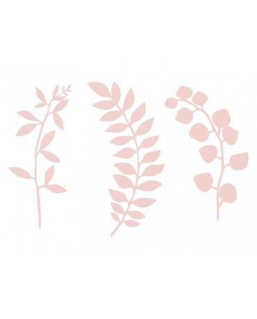 Dekorácie na stôl -vetvičky - ružové  9ks