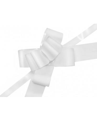Mašľa malovaná biela 5cm