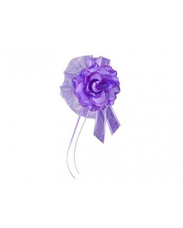 Ozdoba na kľučky-kvet - fialový 4ks