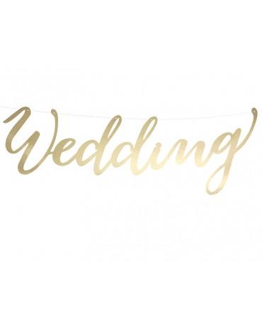 Banner Wedding-zlatý 45cm