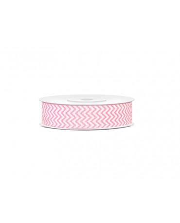 Dekoračná stuha -vlnky-ružová 10m