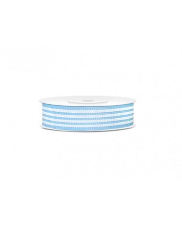 Dekoračná stuha -pásiky-modrá 10m