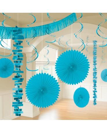 Dekoratívna súprava modrá 18ks