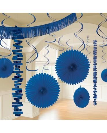 Dekoratívna súprava svetlo modrá 18ks
