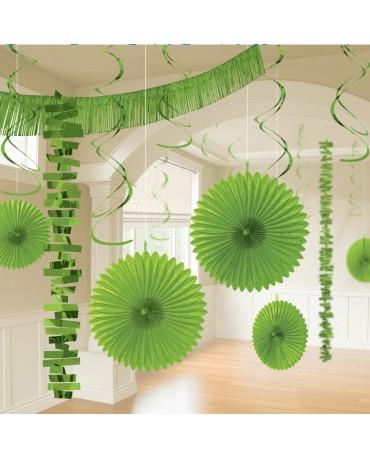Dekoratívna súprava zelená 18ks