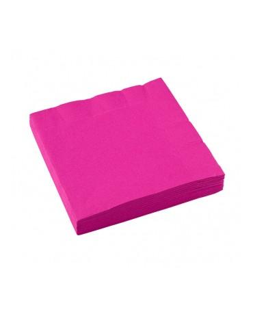 Servítky ružové 33x33cm 20ks