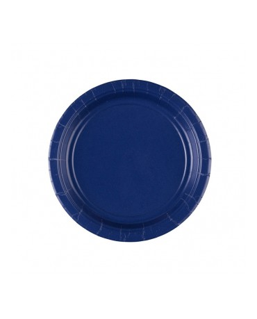 Papierové tanieriky modré 18 cm 8ks