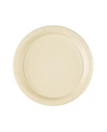 Papierové tanieriky krémové 23cm 8ks