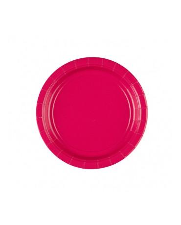 Papierové tanieriky ružové 18cm 8ks