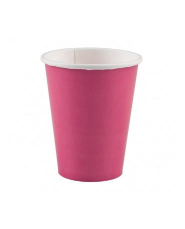 Papierové poháriky ružové 266ml 8ks
