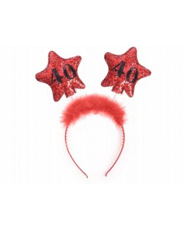 Čelenka - červené hviezdy č.40