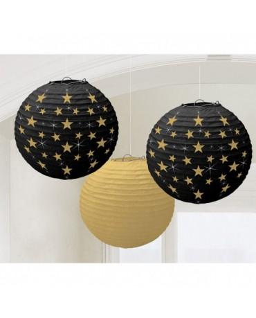 Dekorácia- lampióny- Hollywood 24cm 3ks