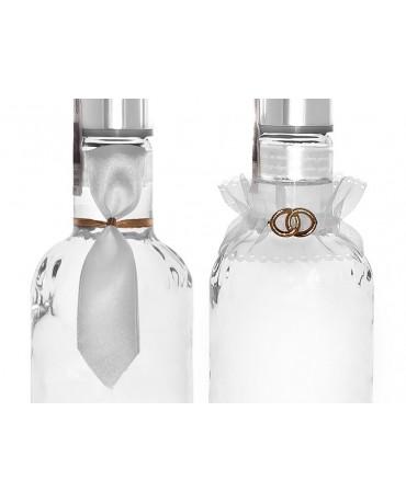 Dekorácia na flašu- ženích a nevesta