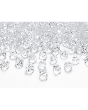 Dekorácia - bezfarebný ľad 14x11 mm 40ks