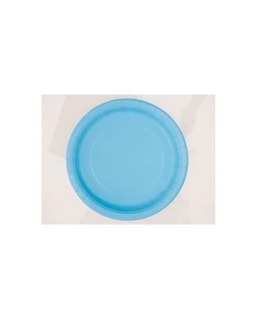 Tanieriky - modré 23 cm 8ks
