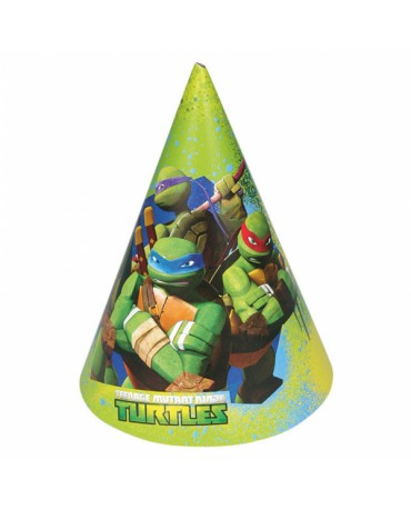 Klobúky Ninja korytnačky 6ks