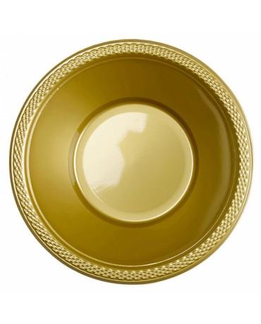 Plastové misky zlaté 355ml 10ks