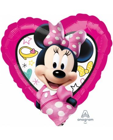 Fóliový balón Minnie srdce 43cm