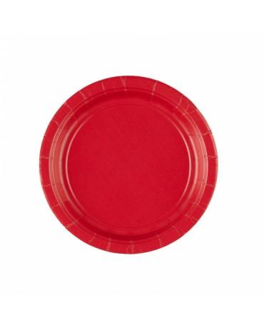 Papierové tanieriky červené 18cm 8ks
