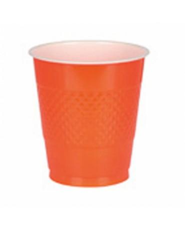 Papierové poháriky oranžové 266ml 8ks