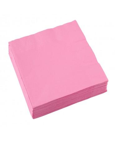 Servítky ružové 33x33cm 20 ks