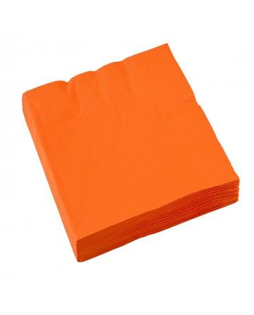 Servítky oranžové 33x33cm 20 ks