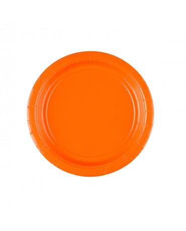 Papierové tanieriky oranžové 18cm 8ks