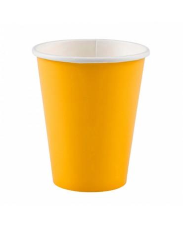 Papierové poháriky žlté 266ml 8ks