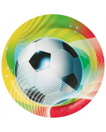 Tanieriky futbal 23cm 8ks