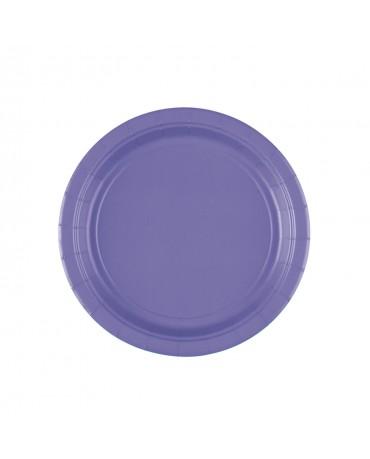 Papierové tanieriky fialové 18cm 8ks