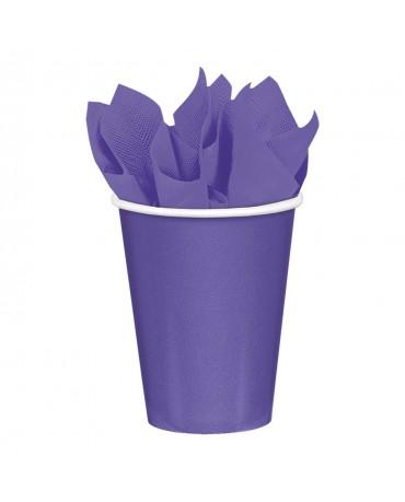Papierové poháriky fialové 266ml 8ks