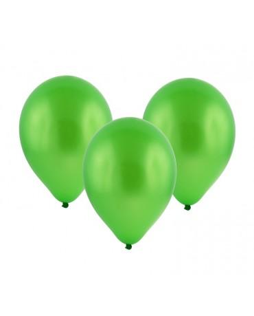 Latexové balóny metalické - zelené 12'' 100ks