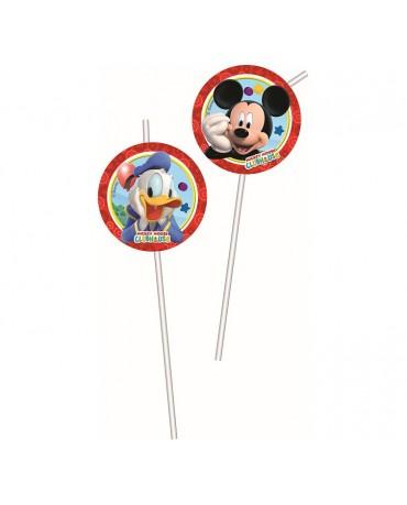 Slamky Mickey a káčer 21cm 6ks