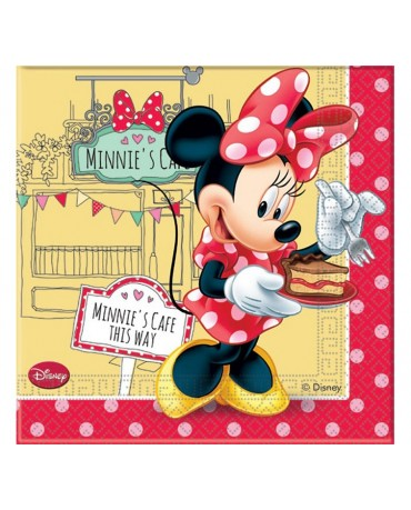 Servítky Minnie cafe 33x33cm 20ks